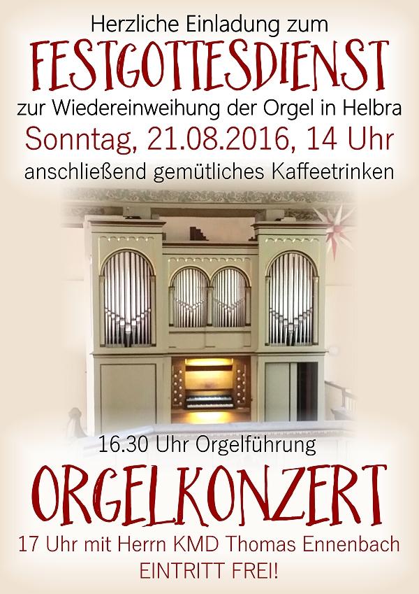 Plakat Orgelweihe