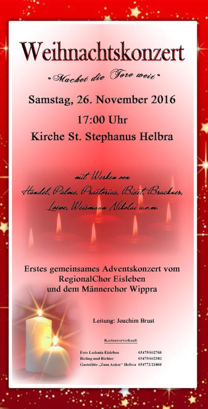 Konzert Helbra 26.11.2016